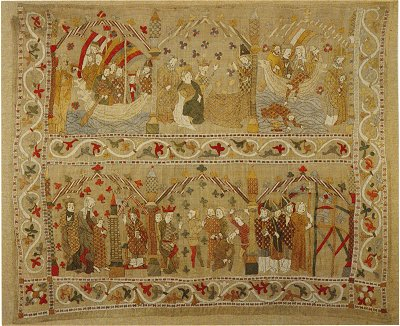 Silk and Linen Hanging, 14th Century