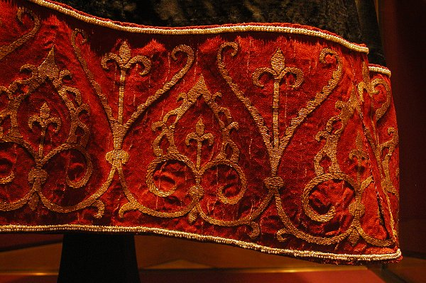 Detail of lower border from Blue Dalmatic