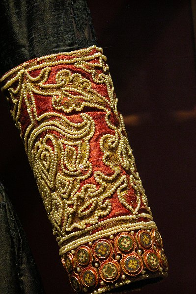 Detail of cuff from Blue Dalmatic